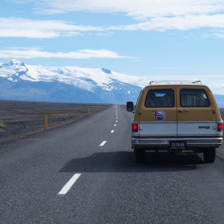 De ringweg in het zuiden van IJsland