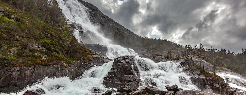 Langfossen, waterval Noorwegen