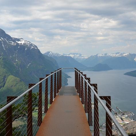 Uitkijkpunt Rampestreken in Åndalsnes, Noorwegen