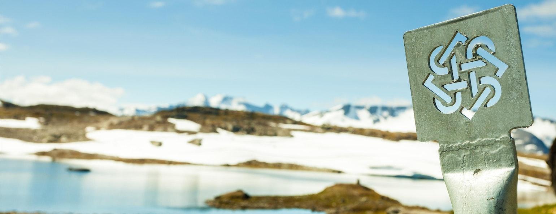 Logo, nationaal toeristische route Sognefjellet, Noorwegen