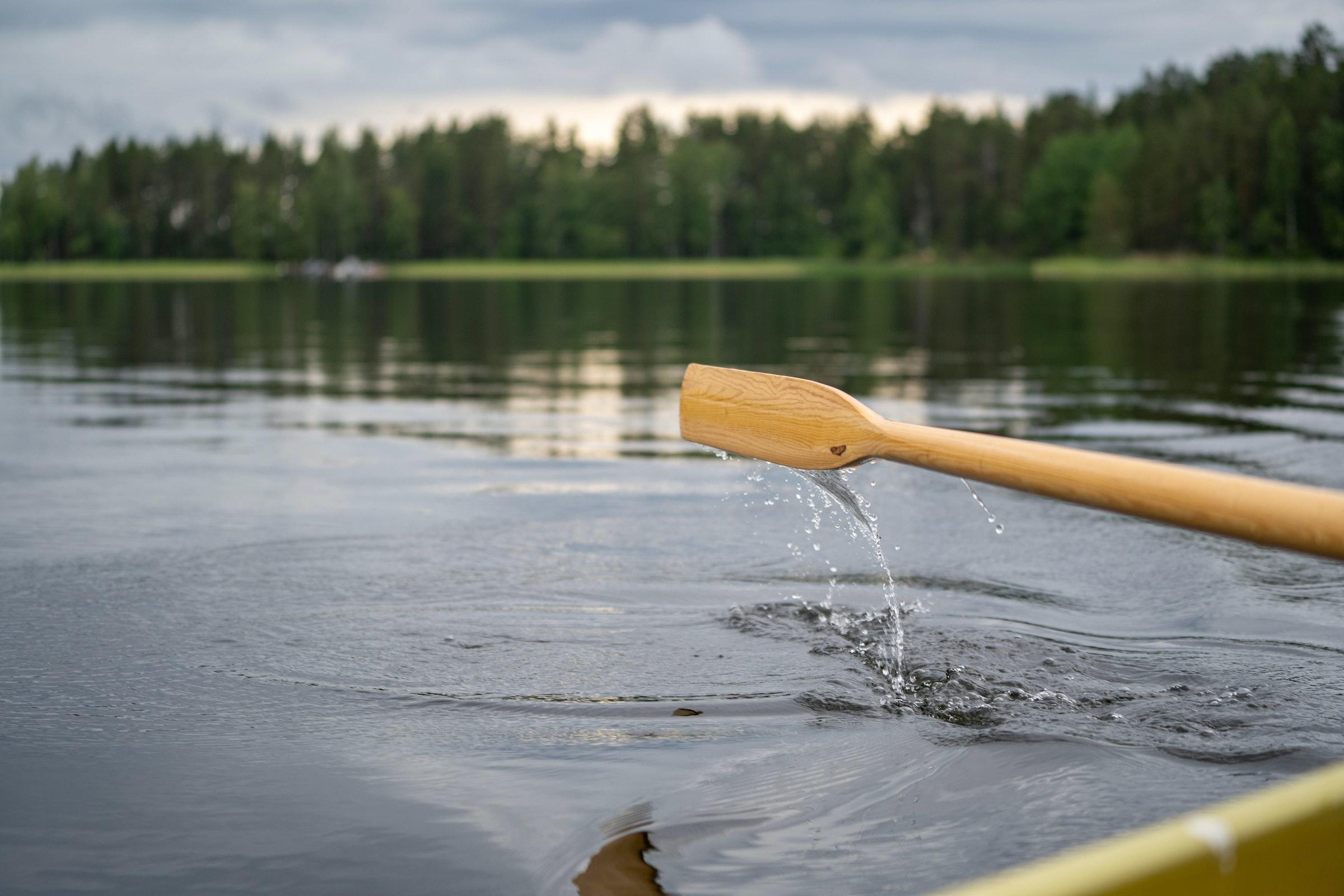 Een van de duizenden meren in Finland